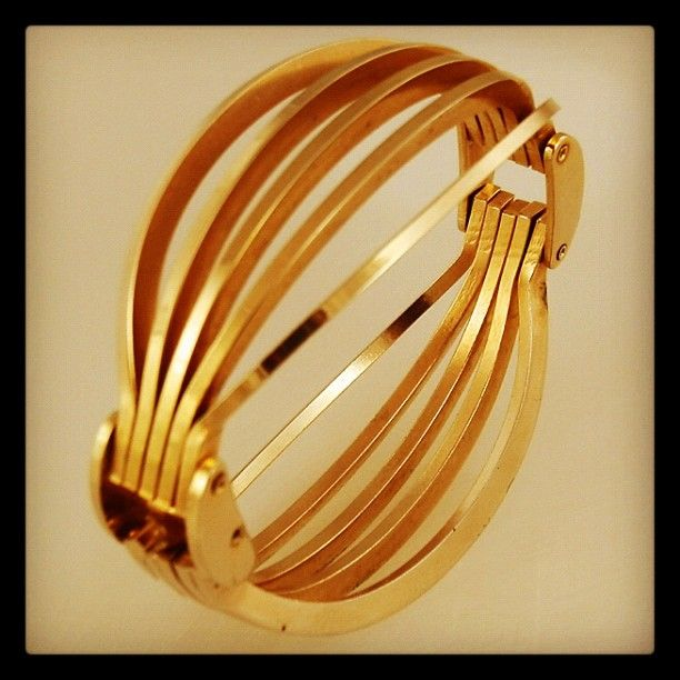 French Machine Age Architectural Radio Grill Bracelet Ca 1935