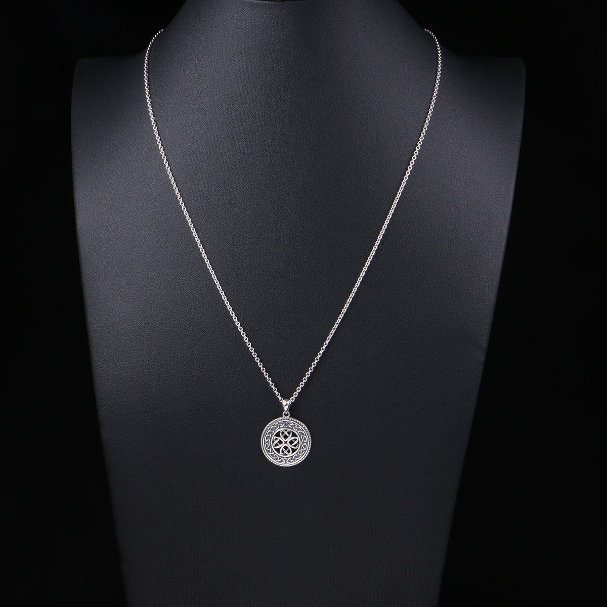 a3980e1c0aeb SILVER MOUNTAIN 925 Sterling Silver Jewelry Oxidized Good Luck Irish Knot  Celtic Medallion Round Pendant Necklace 20 inch -- Discover more by  checking out ...