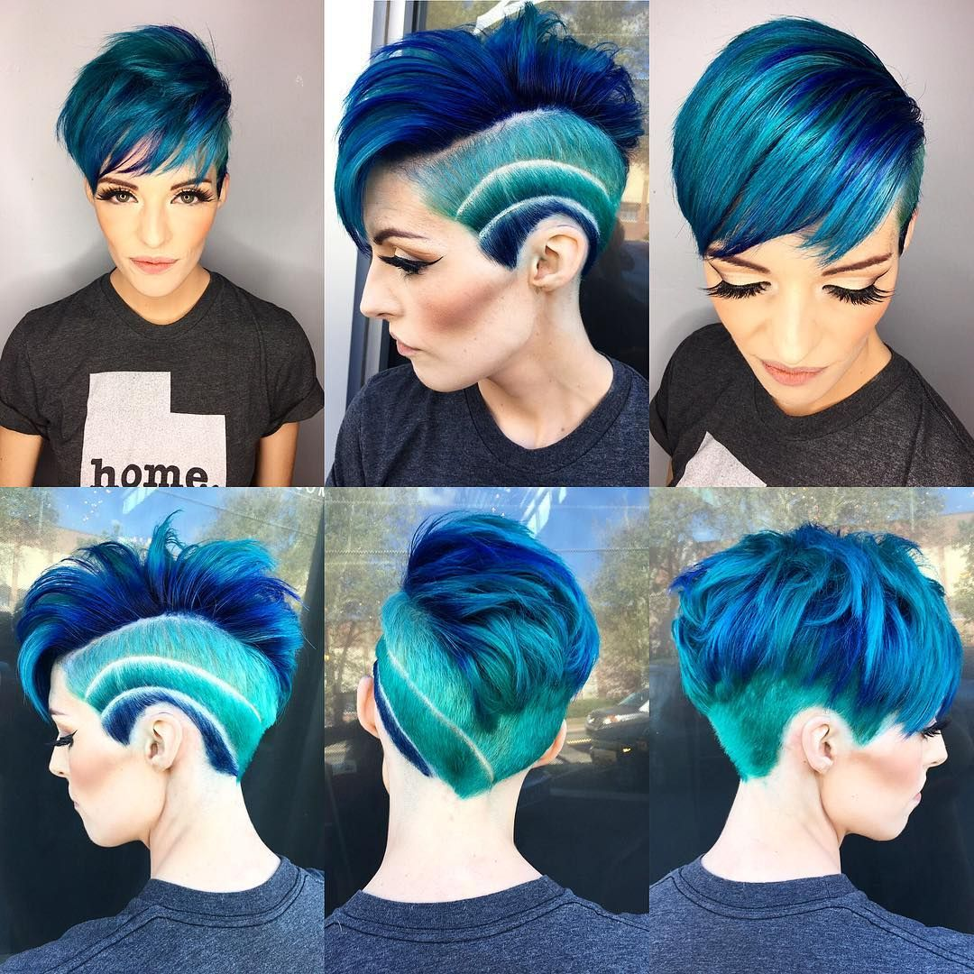 Women's Undercut Haircut Tutorial This Hairstyle Is A Really Bold Cool Style The Shades Of