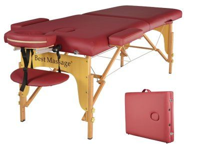 Luxurious Folding Massage Bench with Carry Case