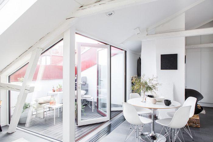 Wohnideen Dachgeschosswohnung dachgeschosswohnung weiße zimmereinrichtung maisonette mit terrasse