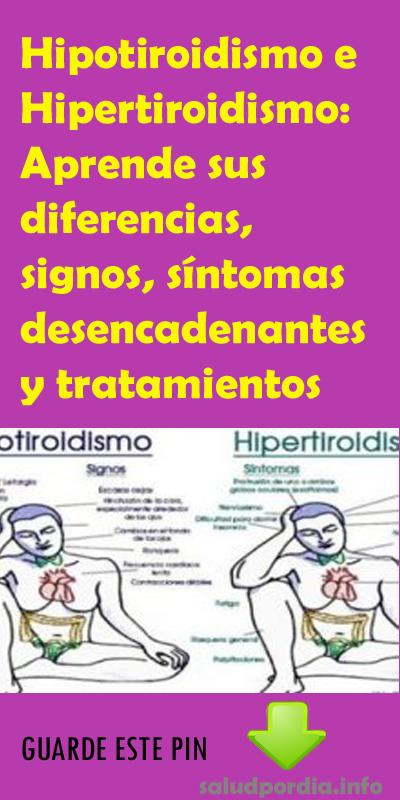 Hipotiroidismo e hipertiroidismo diferenca