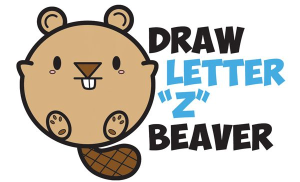 Learn how to draw a cute cartoon beaver with letters easy step by learn how to draw a cute cartoon beaver with letters easy step by step drawing tutorial altavistaventures Images