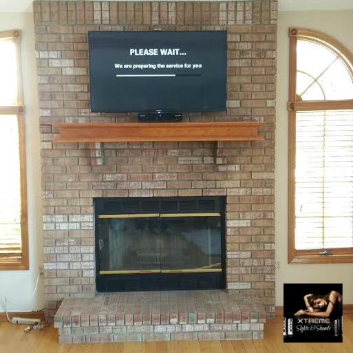 Mounting Tv On Brick Fireplace Annqe, Attaching Tv Mount To Brick Fireplace