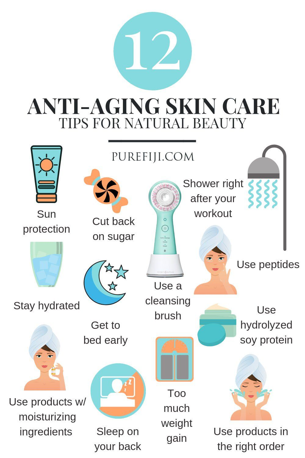 12 Anti Aging Skin Care Tips That Promote Natural Looking Beauty
