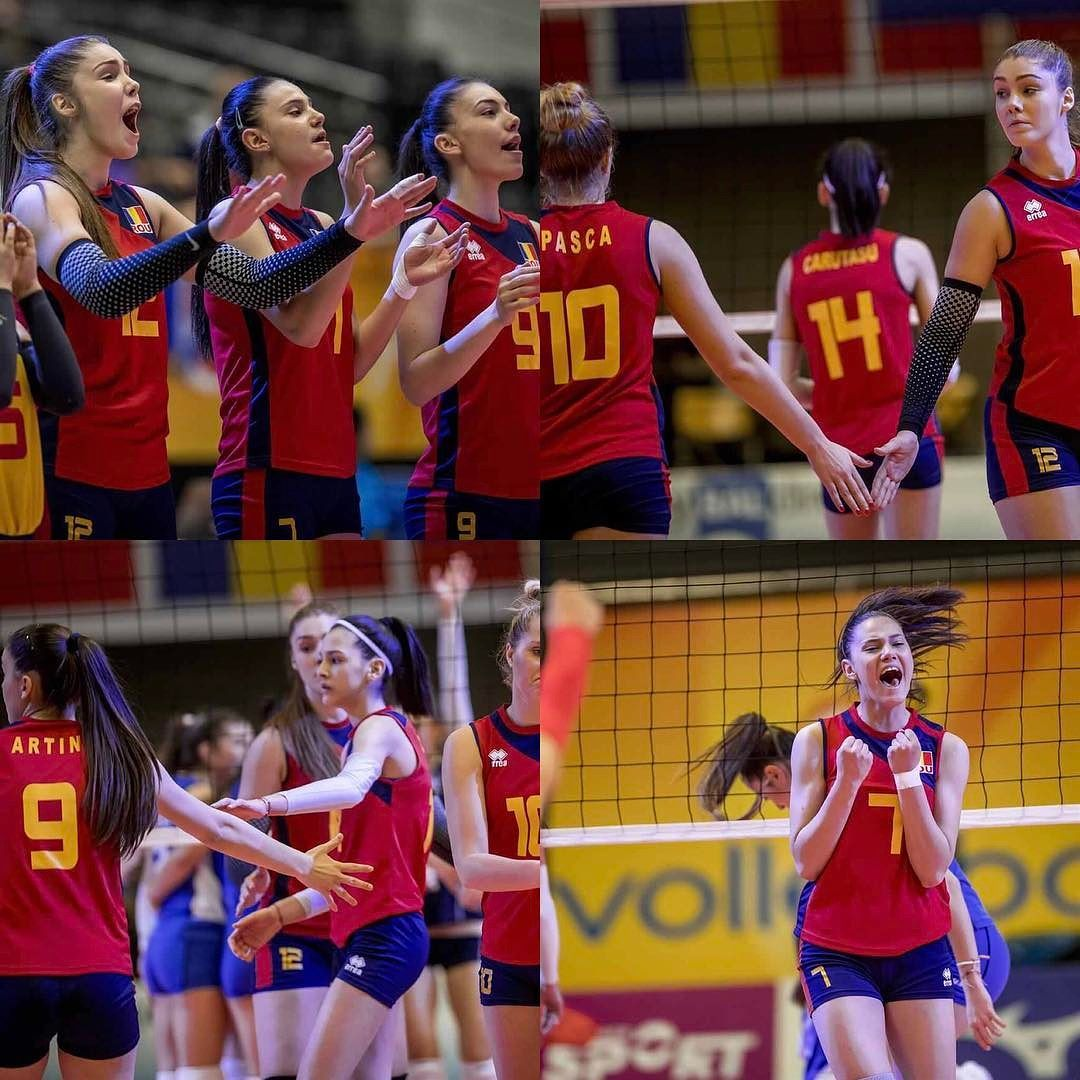 Victory Against Greece Hairomania Victory Eurovolleyu18w Romaniangirls Romania Frvolei Team Romania Volleyball Romanian Girls Victorious Sports Jersey