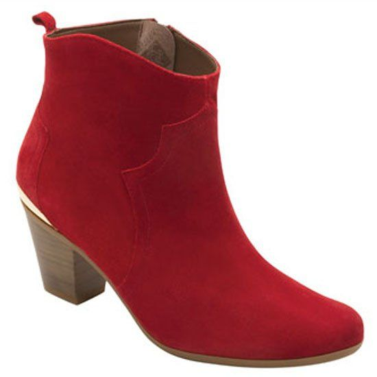ella bota zapato mujer rojo Flexi gamuza Botín botín red dama calzado boots qBxTC