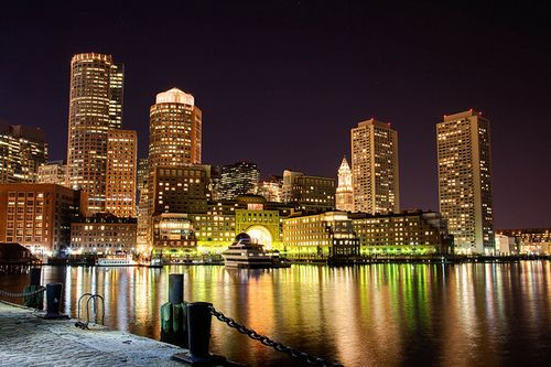 not Chicago's skyline... but Boston's is okay too.