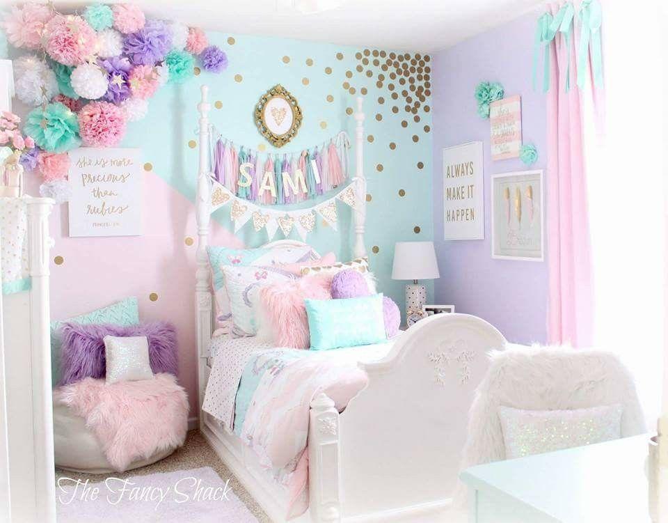 Pin de allison rhead en kids pinterest habitaciones for Cuarto unicornio nina
