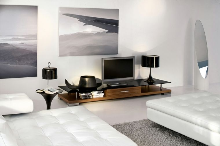 salones blancos muebles modernos Sala de estar Pinterest Room