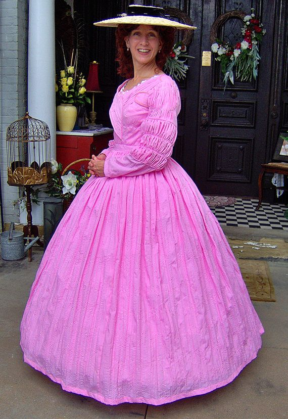 CLEARANCE SALE 1800s Victorian Day Gown 1840s by