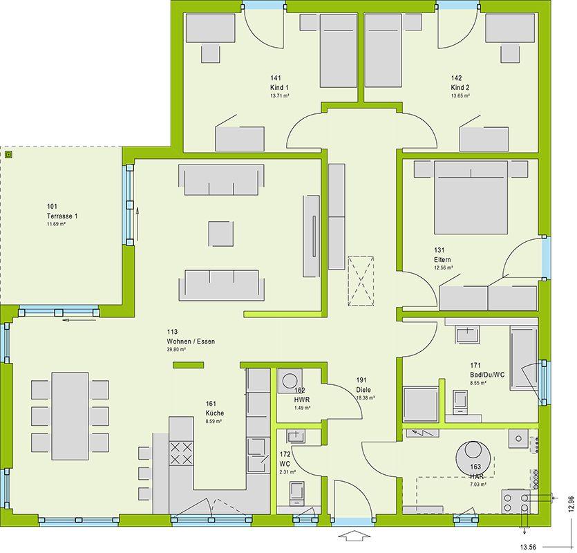 massa haus - Lifestyle 33 V3 Grundriss Pinterest Küchen - küche selber planen