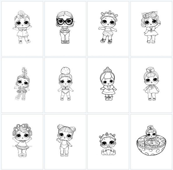 Desenhos Para Colorir Boneca Lol Com Imagens Desenhos Para