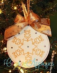Christmas Word Ornaments, 12 Designs - 4x4 | What's New | Machine Embroidery Designs | SWAKembroidery.com Creative Appliques