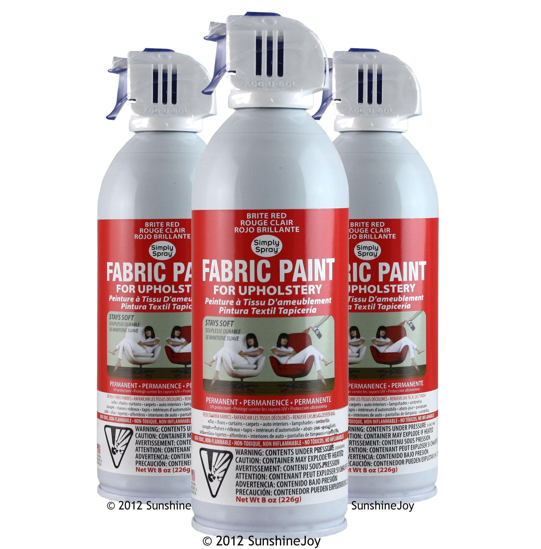 Simply Spray Upholstery Fabric Spray Paint 8 Oz Can Caribbean Blue Simply Spray Soft Fabric Spray Fabric Spray Paint Upholstery Fabric Spray Paint