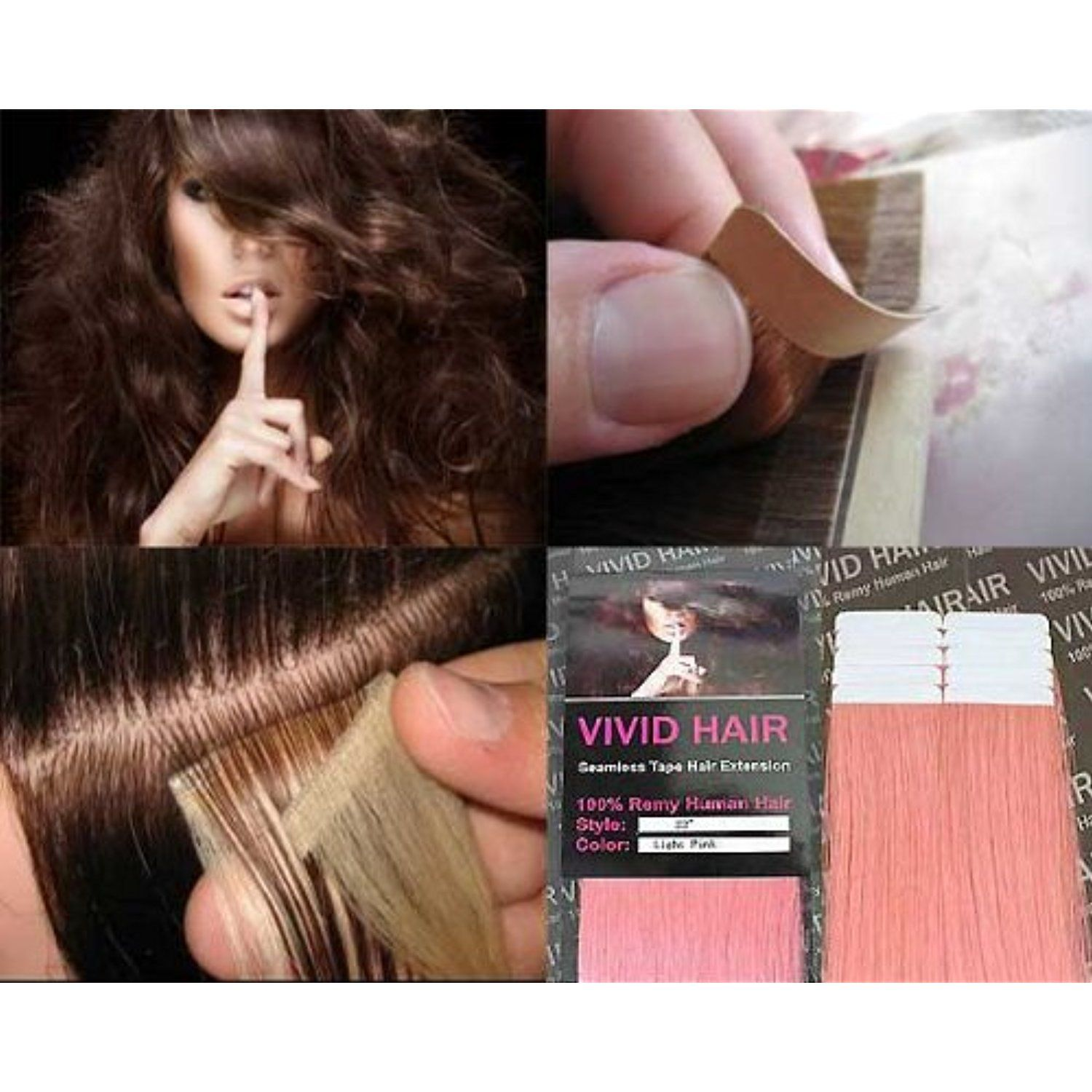 10 Pcs X 22 Inches Remy Seamless Tape Skin Weft Human Hair