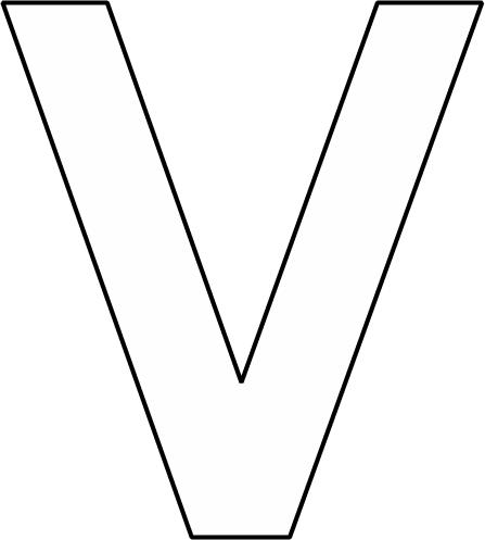 alfabet v groot alfabet kleurplaten geletterdheid