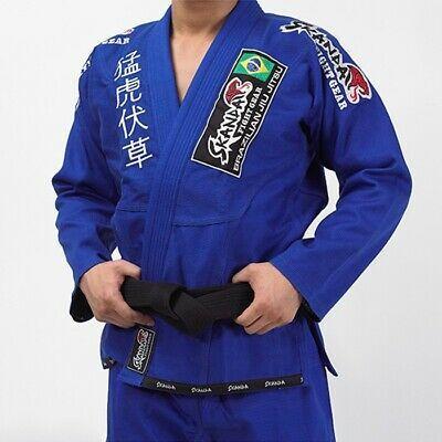 Blue BJJ Adult Gi Pearlweave// Ripstop Brazilian Jiu-jitsu Free Belt /& Backpack