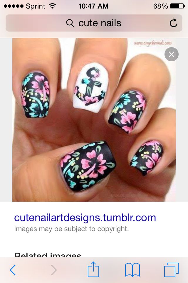 Great For Back To School Cute Nails Pinterest School Nail