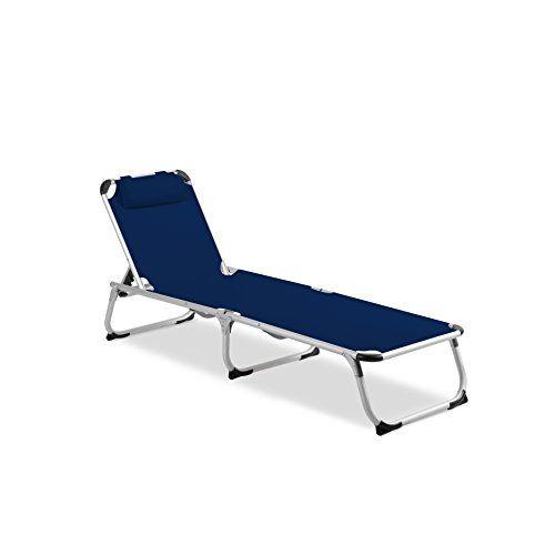 Perfekt Vanage Gartenliege Helena In Blau   Sonnenliege Mit Textilbezug Und Kissen    Liegestuhl Ist Klappbar