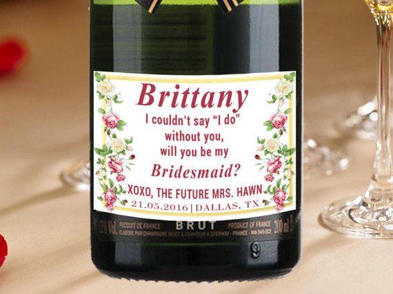 Bride Mini Champagne Labels Personalized Labels By LabelByLoveArts - Mini champagne bottle labels template