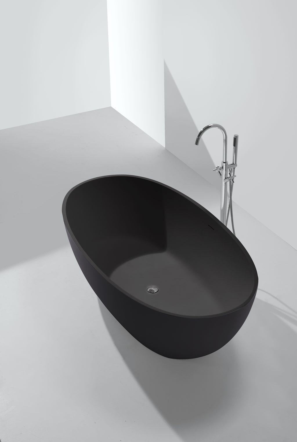 Mineralguss Badewanne Ductilo Schwarz Freistehend Badewanne Wanne Bad Fliesen