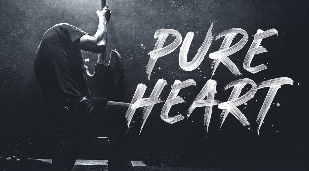 Pure Heart Hyper Realistic Brush Font Brush Font Pure