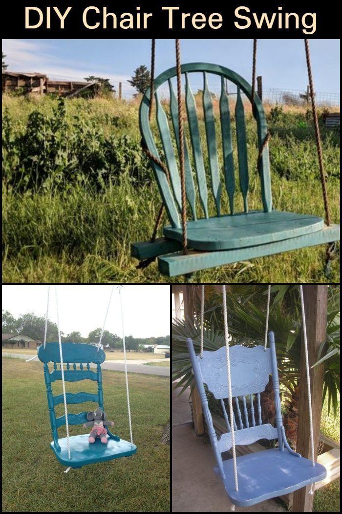 DIY Chair Tree Swing #woodworkingprojectschair
