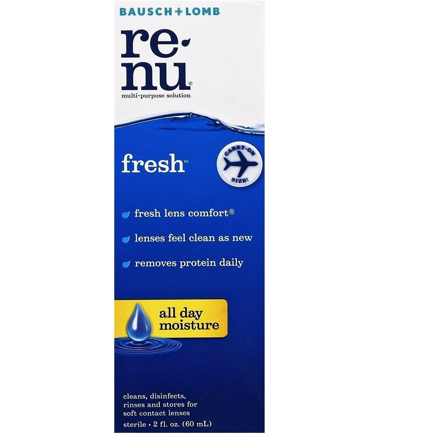 Travel Sized Multi Purpose Contact Lens Solution X 3 By Renu Contact Lens Solution Travel Size Products Soft Contact Lenses