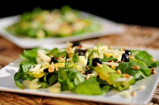 Spinazie salade met venkel