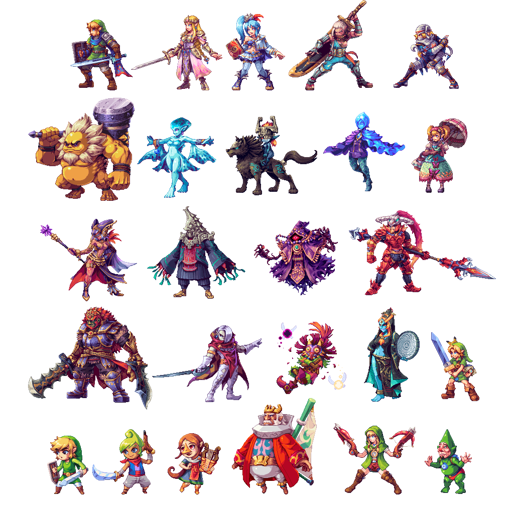 Warriors All Stars Characters: Hyrule Warriors All Stars (update) By AbyssWolf