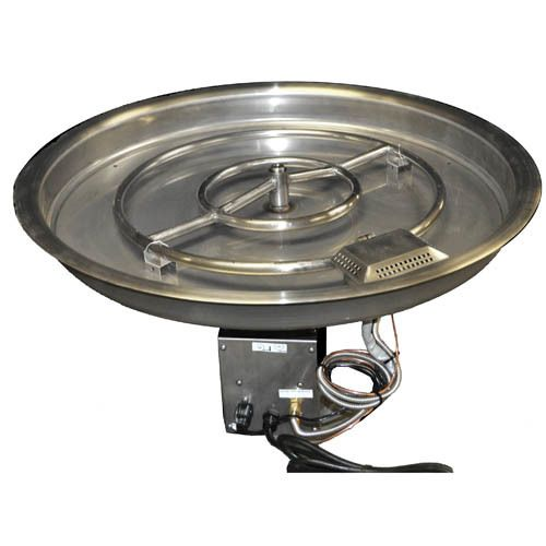 Http Www Cornerstonemantels Com Hpc 31 Inch Bowl Pan Fire Pit Insert Remote Electronic Ignition Natural Gas Fire Pit Kit Fire Pit Insert Gas Fire Pit Kit