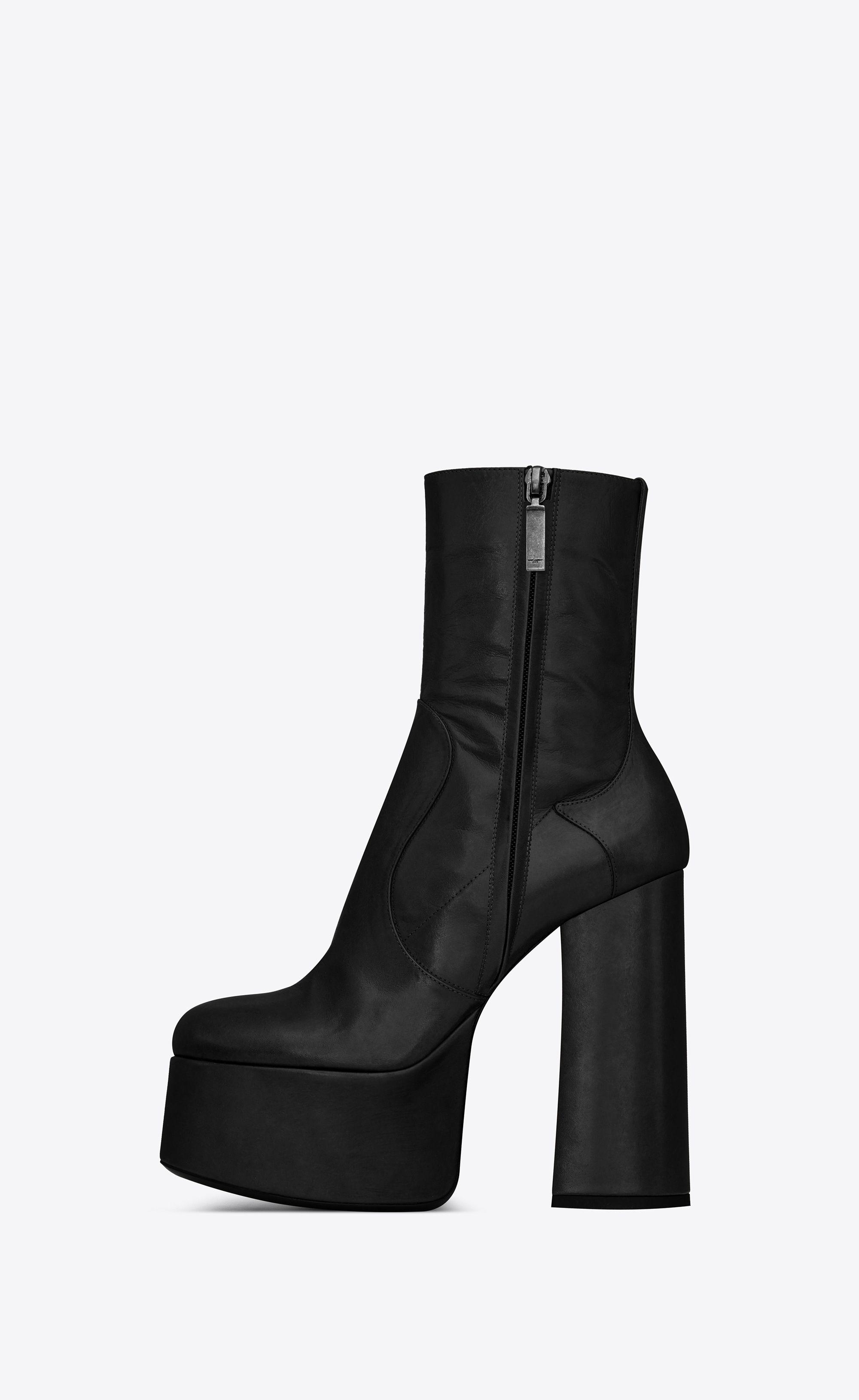 66db83903e7 Saint Laurent Billy Platform Bootie In Leather | YSL.com | shoes ...