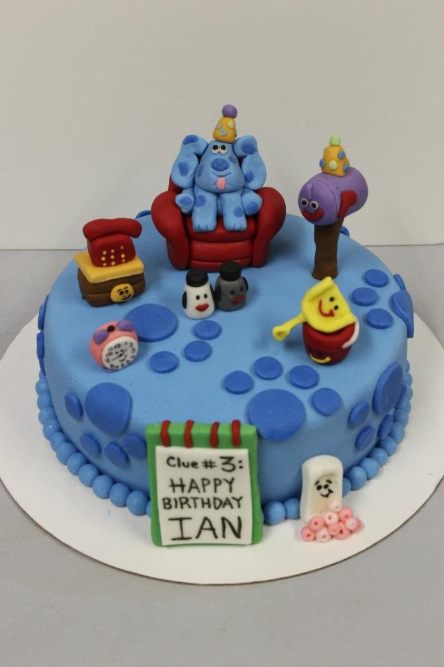 Blue S Clues Birthday Cake With Images Birthday Cake Kids