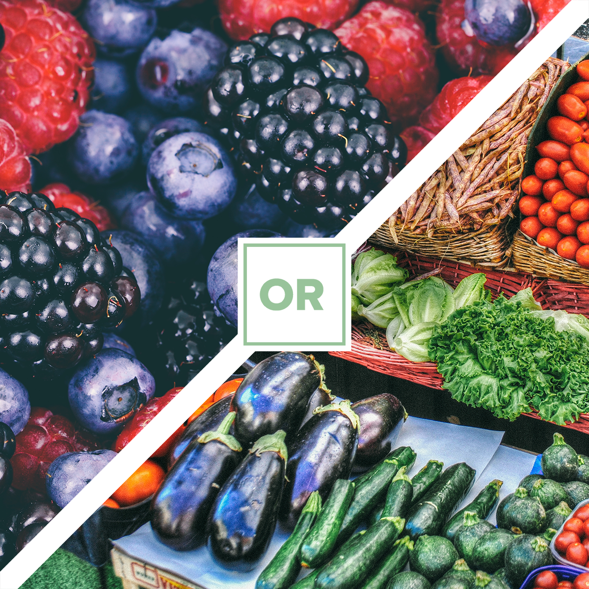 POLL: Which would you rather eat - Fruits or Veggies?