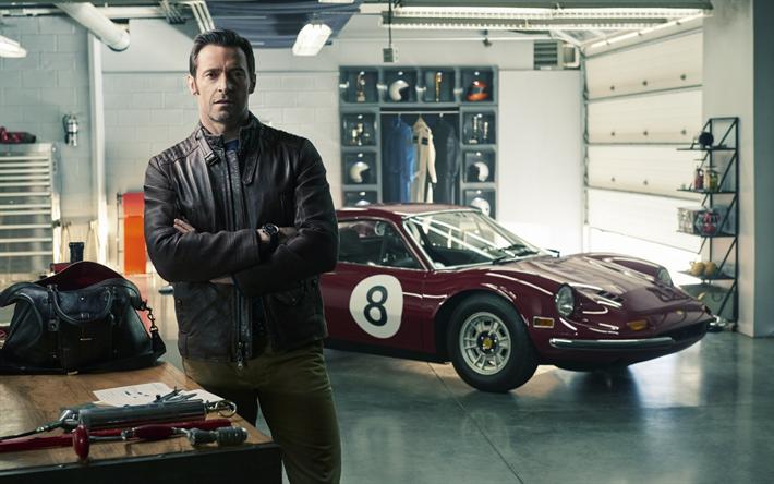 Download Wallpapers Hugh Jackman 2017 Enzo Ferrari Movie Ferrari Besthqwallpapers Com Hugh Jackman Ferrari Filme