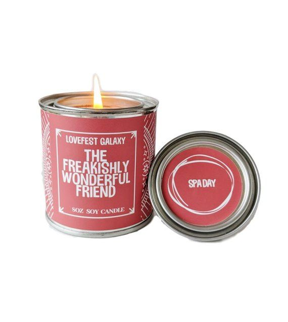BFF Gift Long Distance Friendship Best Friend Soy Candle Love For Scented Birthday Valentine Christmas