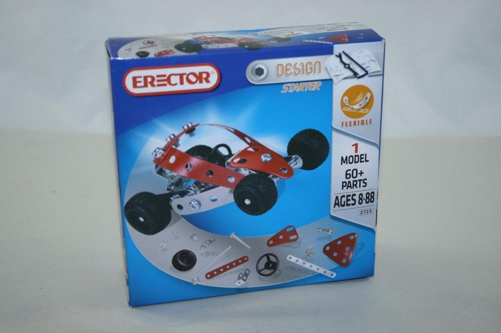 NEW Erector Car Design Starter Kit Meccano Metal Construction Toys Building #Erector