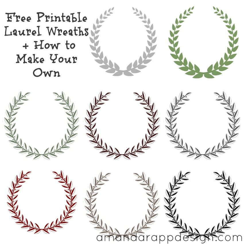 picture relating to Printable Wreath Template named Absolutely free Printable Laurel Wreaths + How towards Crank out Your Individual. Olive