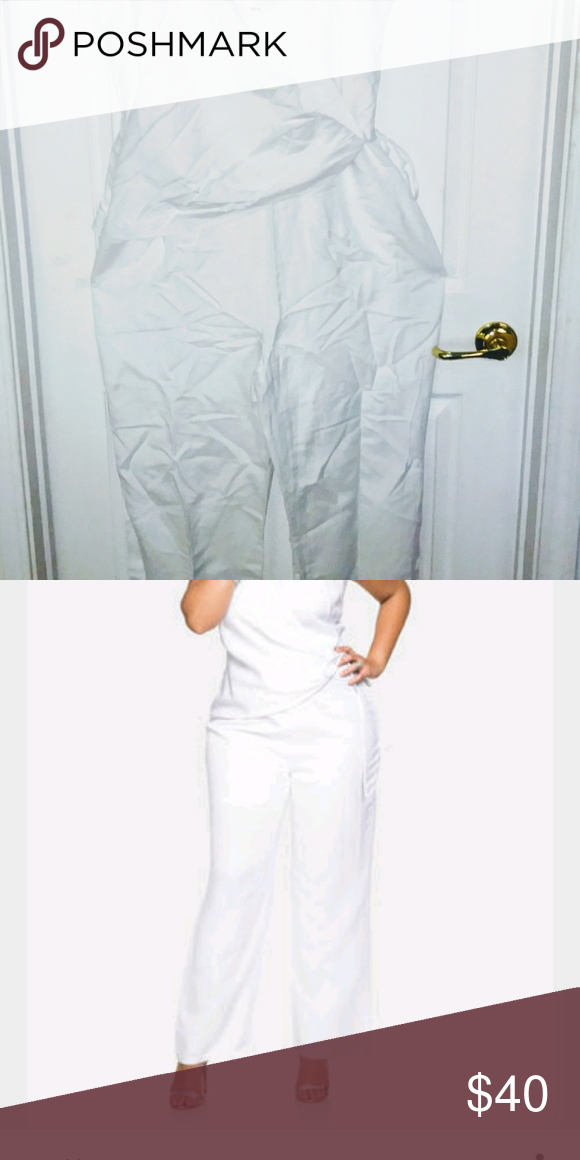 9b8df4667e144 Wasn t aware of the lining Side tie jumpsuit with silver rings. Ashley  Stewart Pants Jumpsuits   Rompers