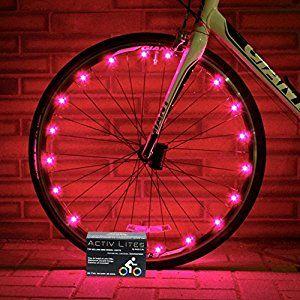 Amazon Com Best Pink Bicycle Wheel Lights Stylish Accessories