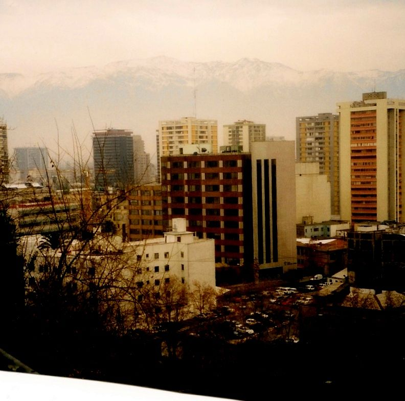 Santiago with the backdrop of the Andes - Chili