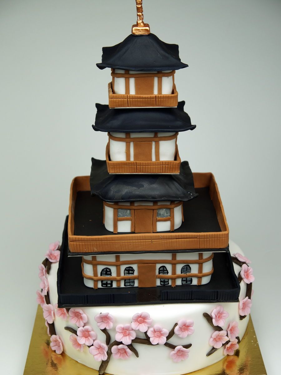 Pagoda Birthday Cake Delivered in London UK httpwwwpinkcakeland
