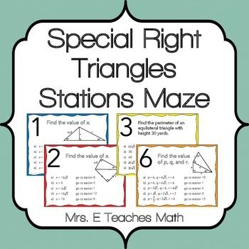 special right triangles stations maze activity maze triangles and activities. Black Bedroom Furniture Sets. Home Design Ideas