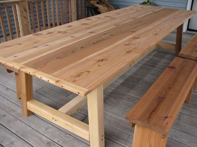 Large Outdoor Dining Table Cedar Outdoor Dining Table Dining
