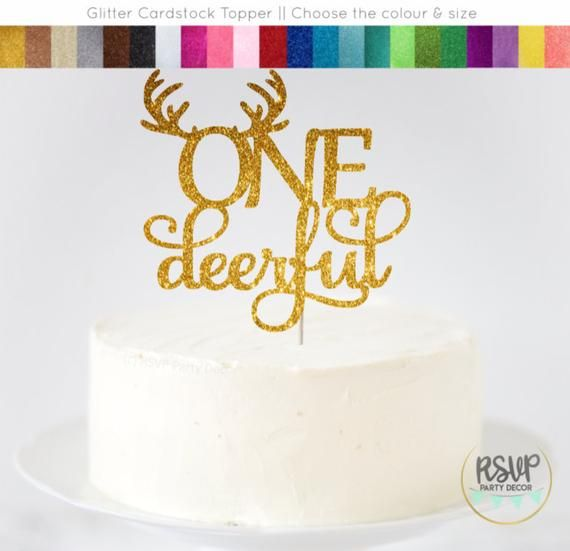 Onedeerful Cake Topper