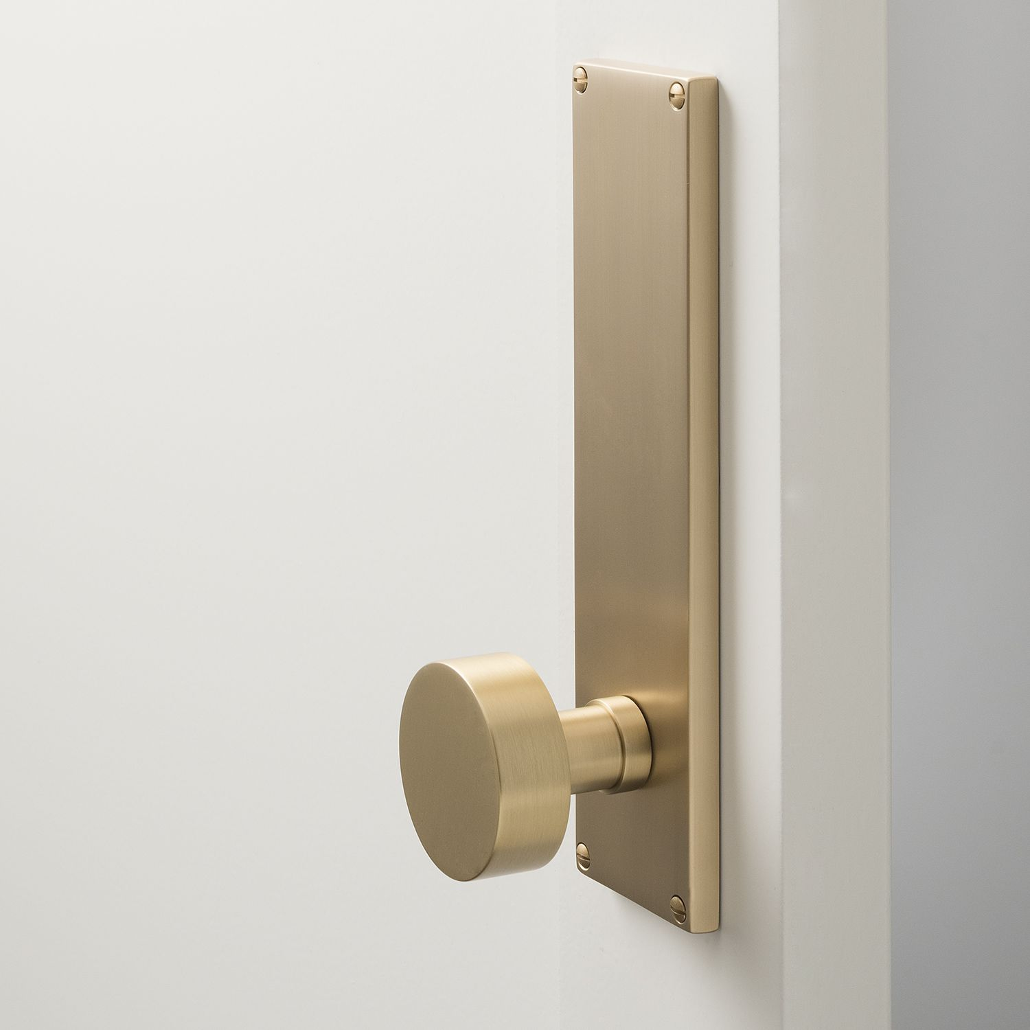 Tate door set with cylinder knob satin brass hardware doors and