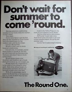 1971 Carrier Ad Air Conditioners Air Conditioning