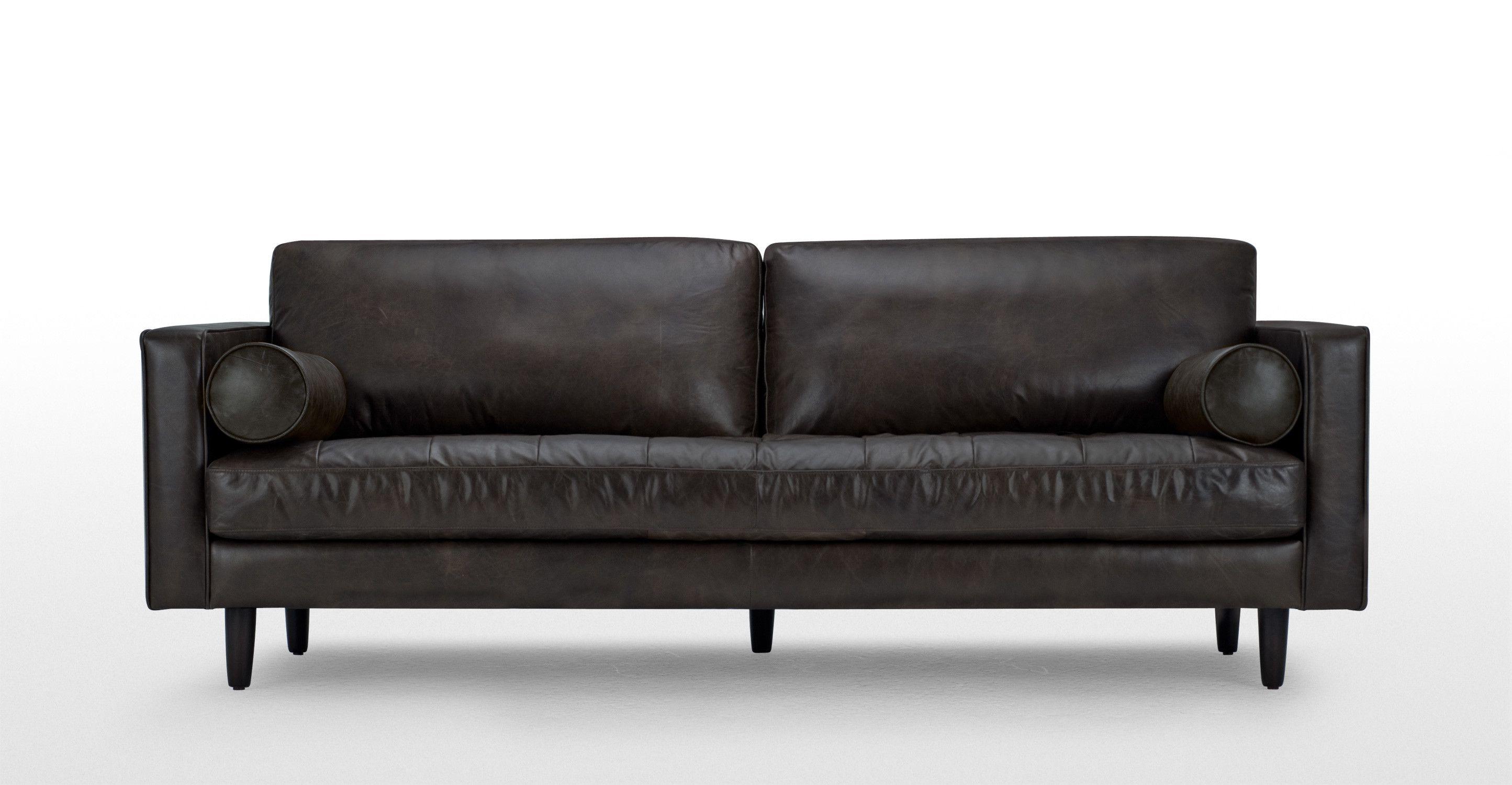 Scott 3 Seater Sofa In Vintage Brown Premium Leather Made Com 3 Seater Sofa Leather Sofa Vintage Sofa