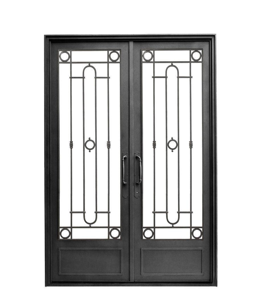 Puerta De Hierro Con Vidrio Variedad De Modelos De Diseno Antiguo Y Moderno Somos Fabricantes Envio Modelos De Puertas Puerta Doble Hoja Puertas De Entrada